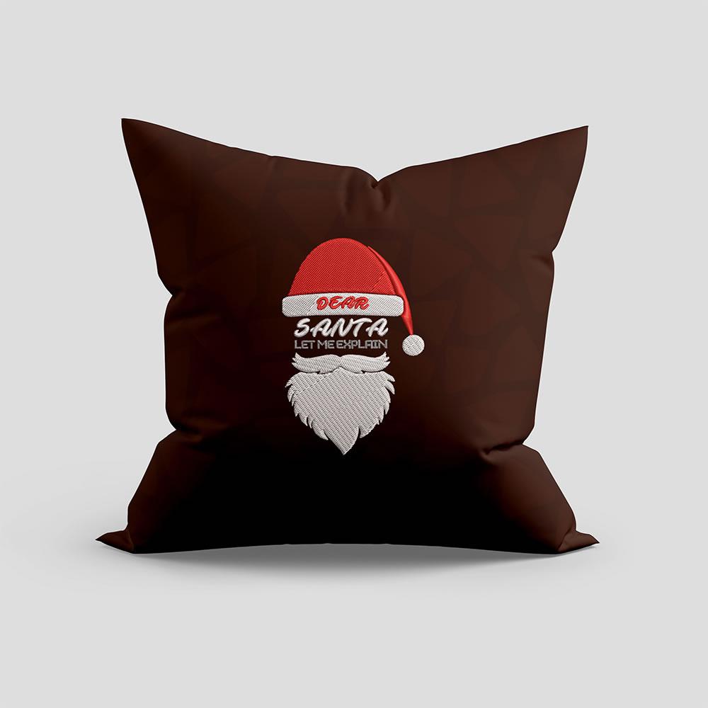 Embroidery Santa Cushion Mock Up