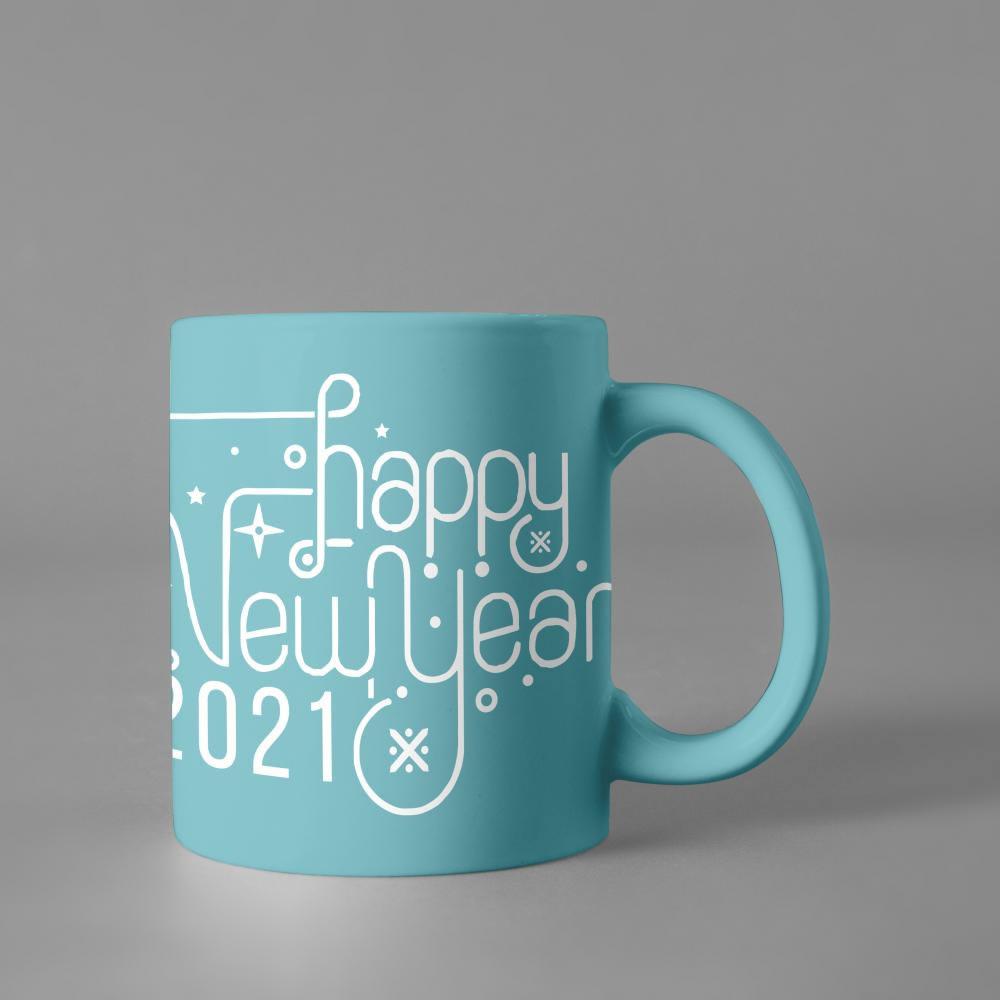 Happy New Year Vector Cup