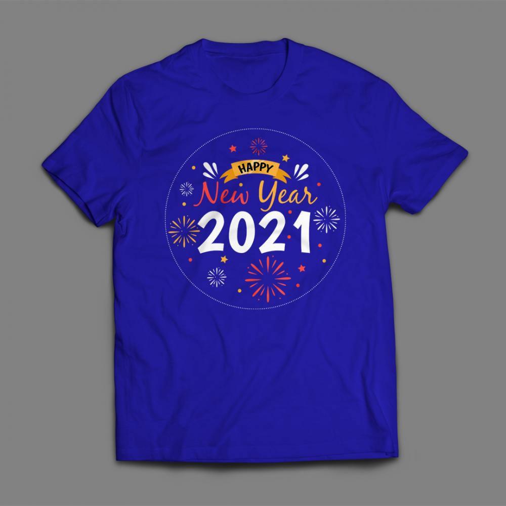 Happy New Year Vector T-shirt