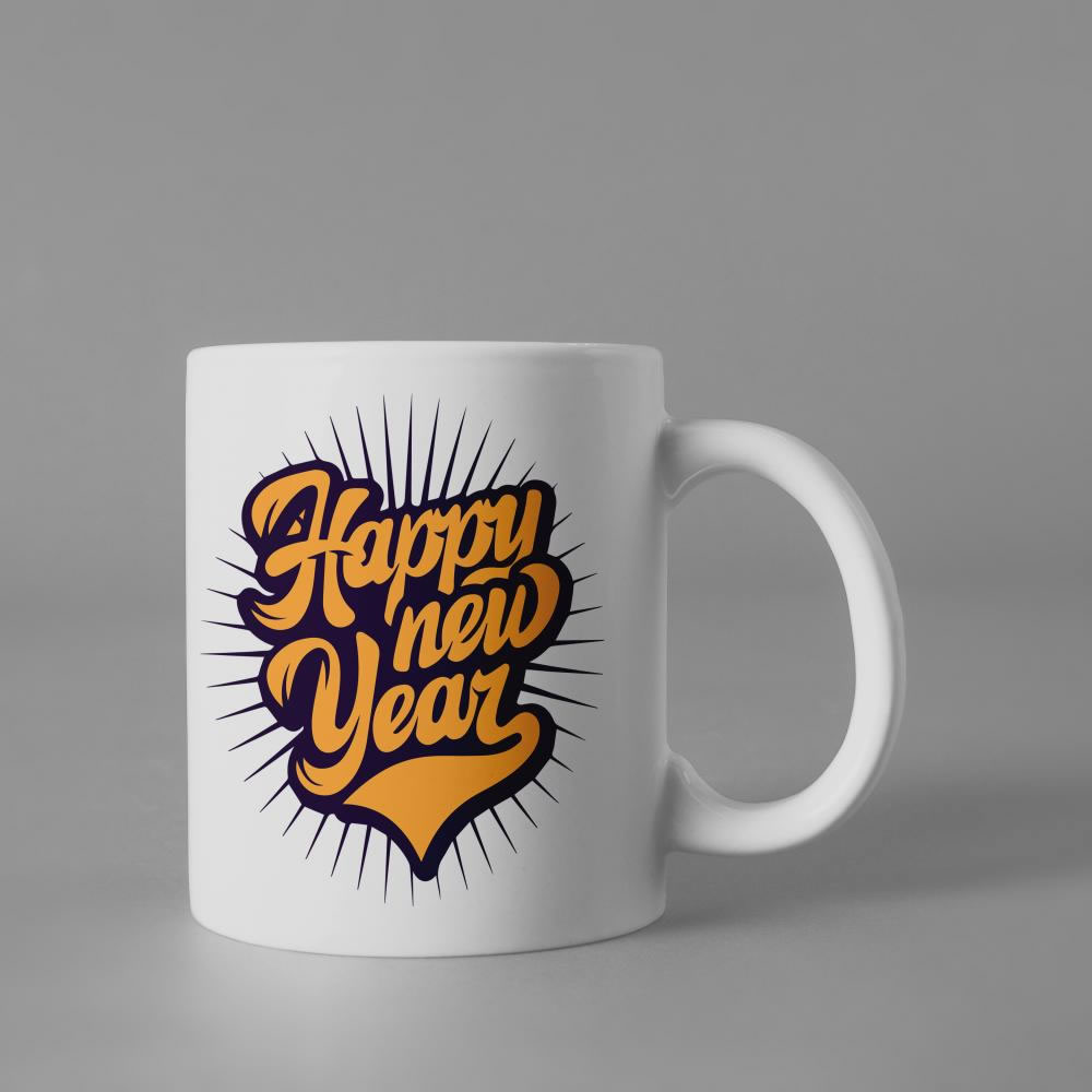 Happy New Year Vector Graphic Cup