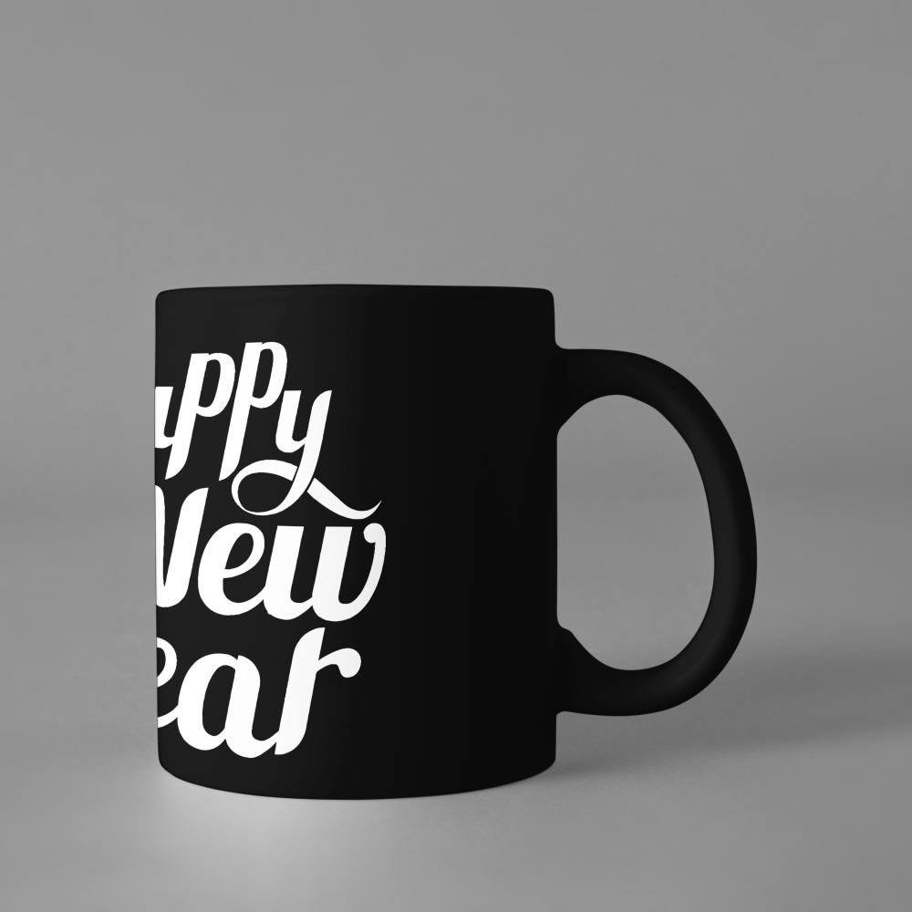 Happy new year typography Cup