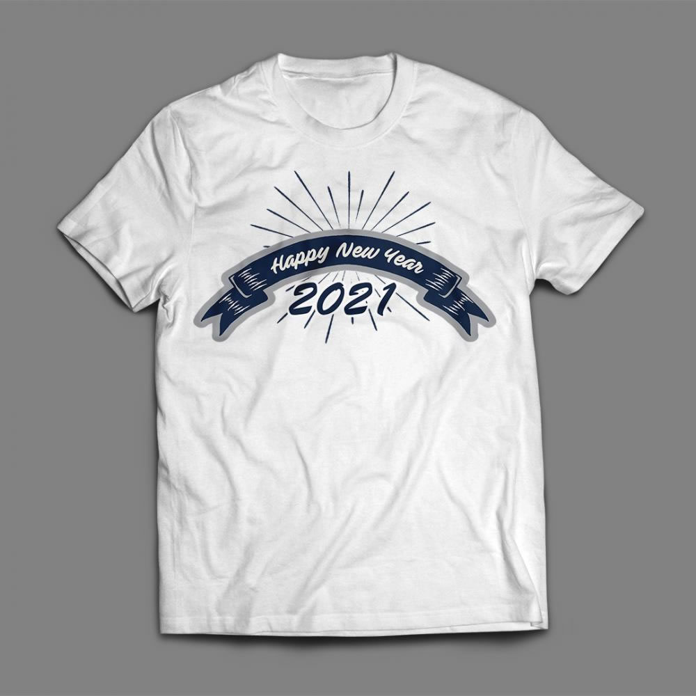 Happy New year 2021 T-shirt Mock Up