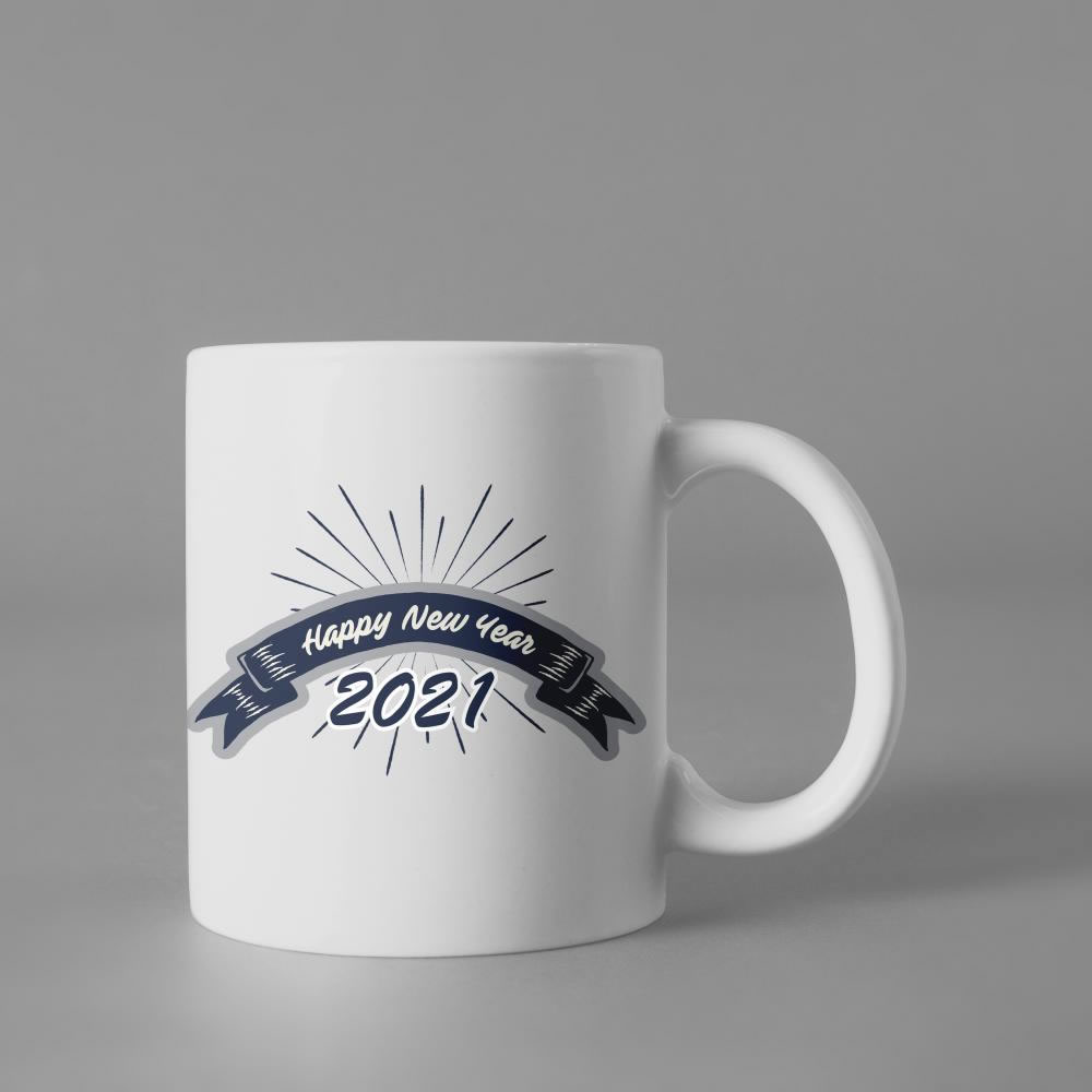 Happy New year 2021 Cup Mock Up