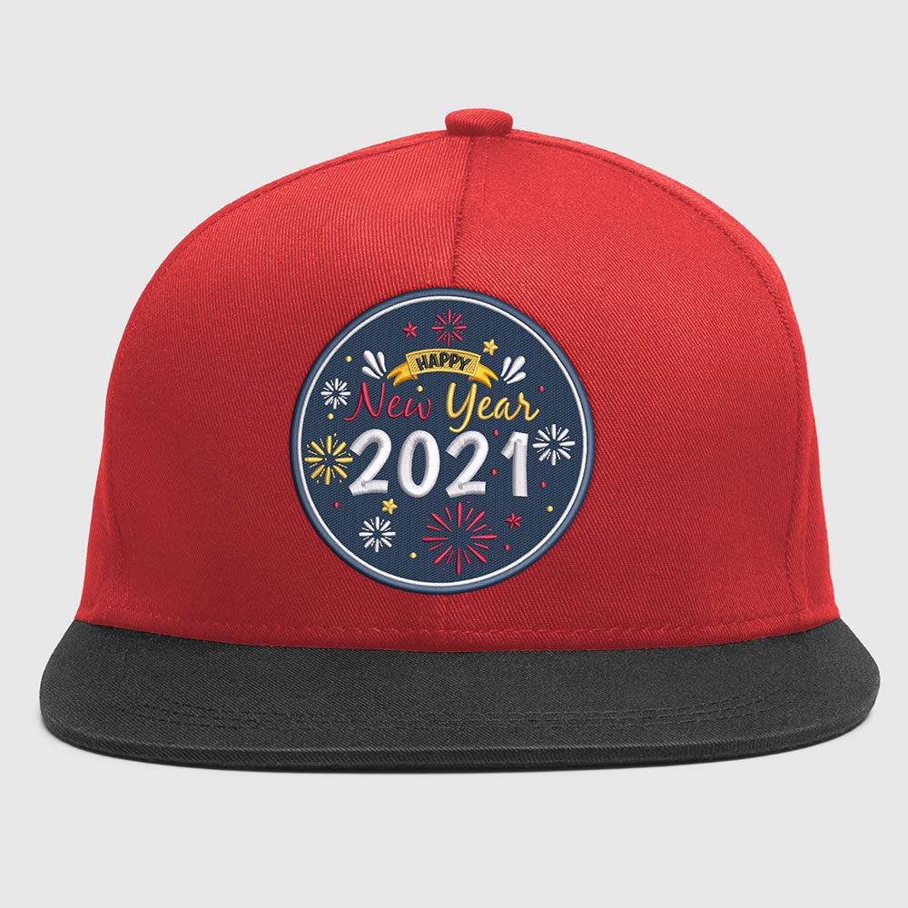Embroidery design: Happy new year eve Cap