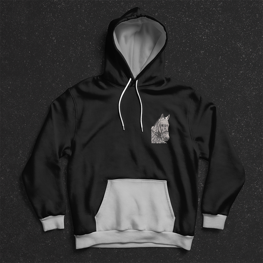 Horse Embroidery Design Hoodies