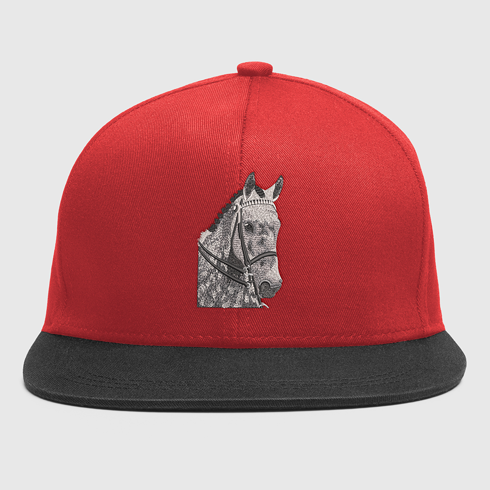 Horse Embroidery Cap Mock Up