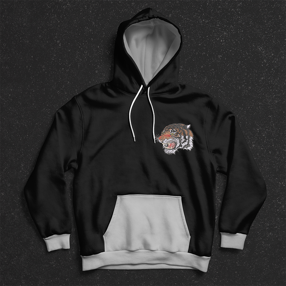 Tiger Face Embroidery Hoodies