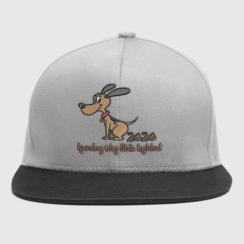 Dog Embroidery Design For Cap