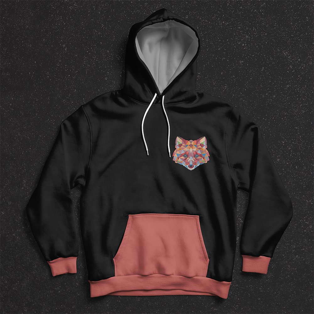 Color Fox Embroidery Design Hoodies