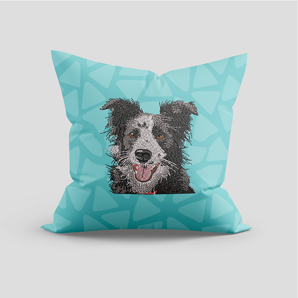 American Staffordshire Terrier Cushion Mock Up