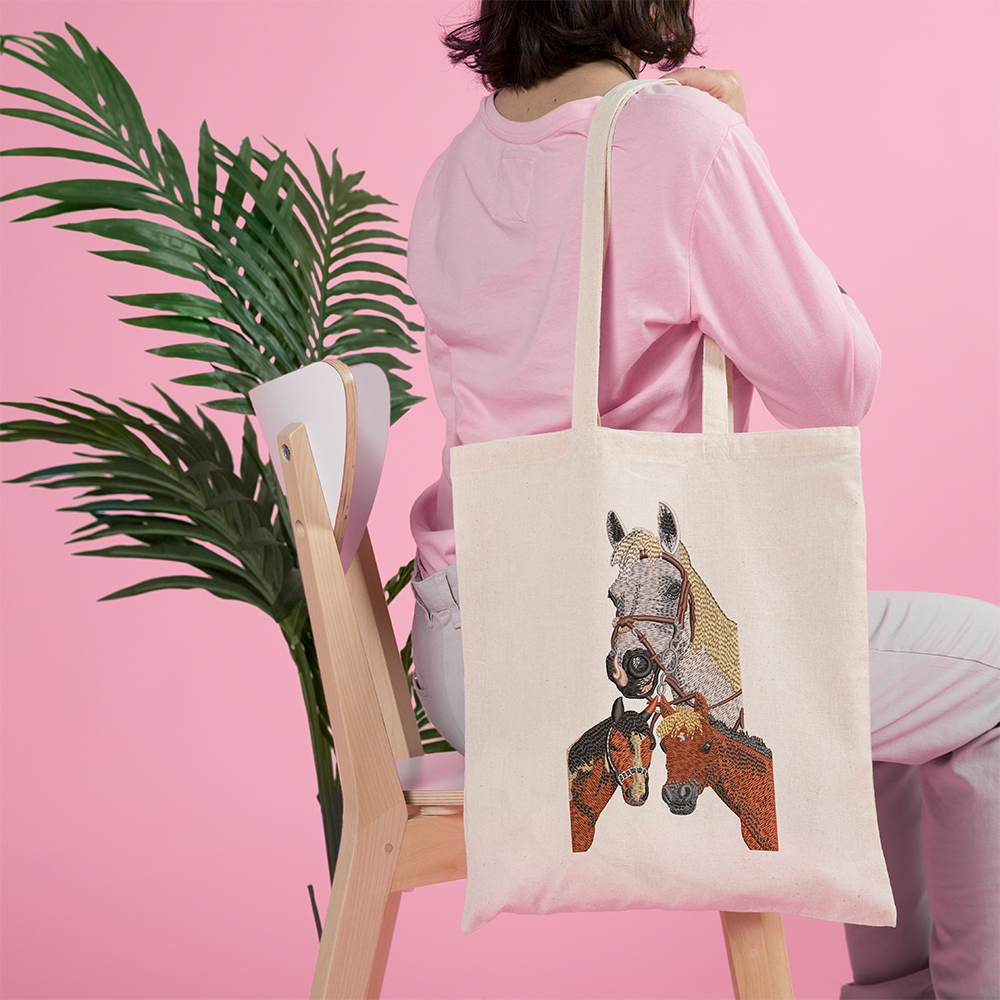 Horse Embroidery Bag Mock Up