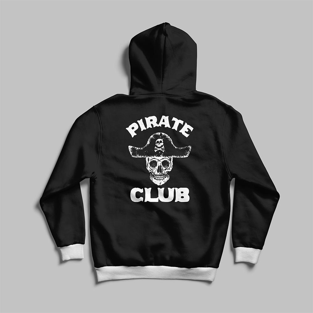 Pirate Club Vector Art Hoodies