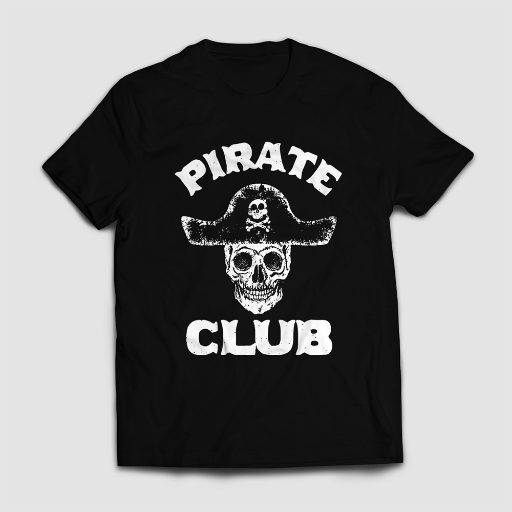 Pirate Club Vector Art T-shirt