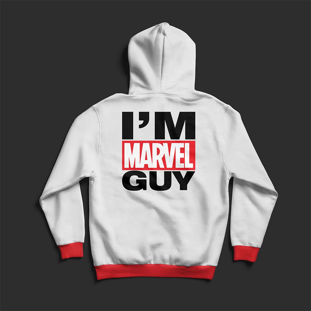 I'M Marvel Guy Hoodies Vector Art