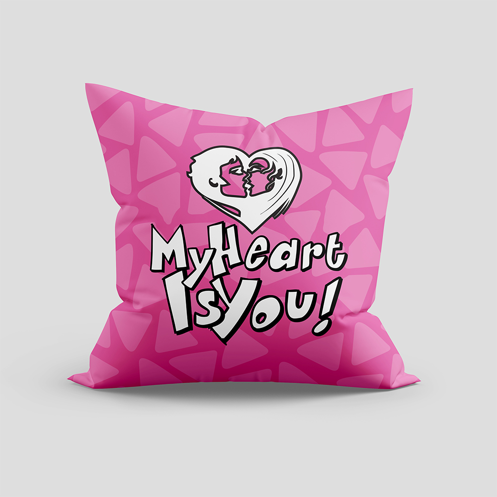 My Heart Is You Vector Art Cushion Mock Up
