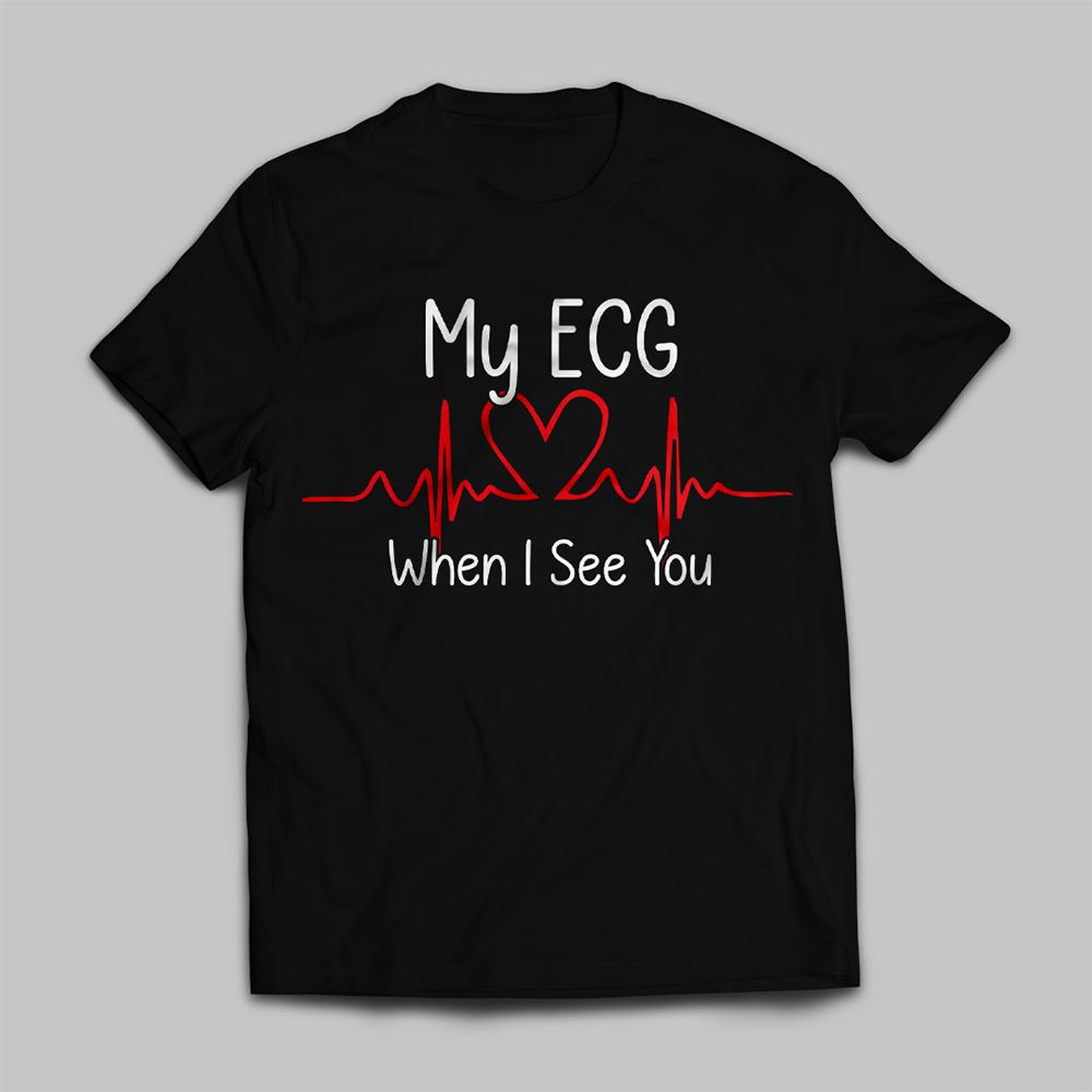 ECG When I See You T-shirt Vector Design
