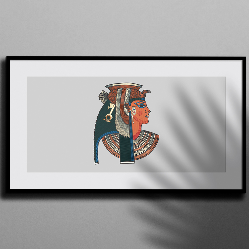 Embroidery Design: Ancient Egyptian Queen Photo Frame