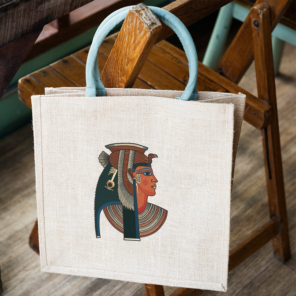 Embroidery Design: Ancient Egyptian Queen Tote Bag