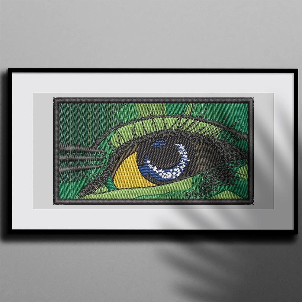 Eye Embroidery Design Photo Frame
