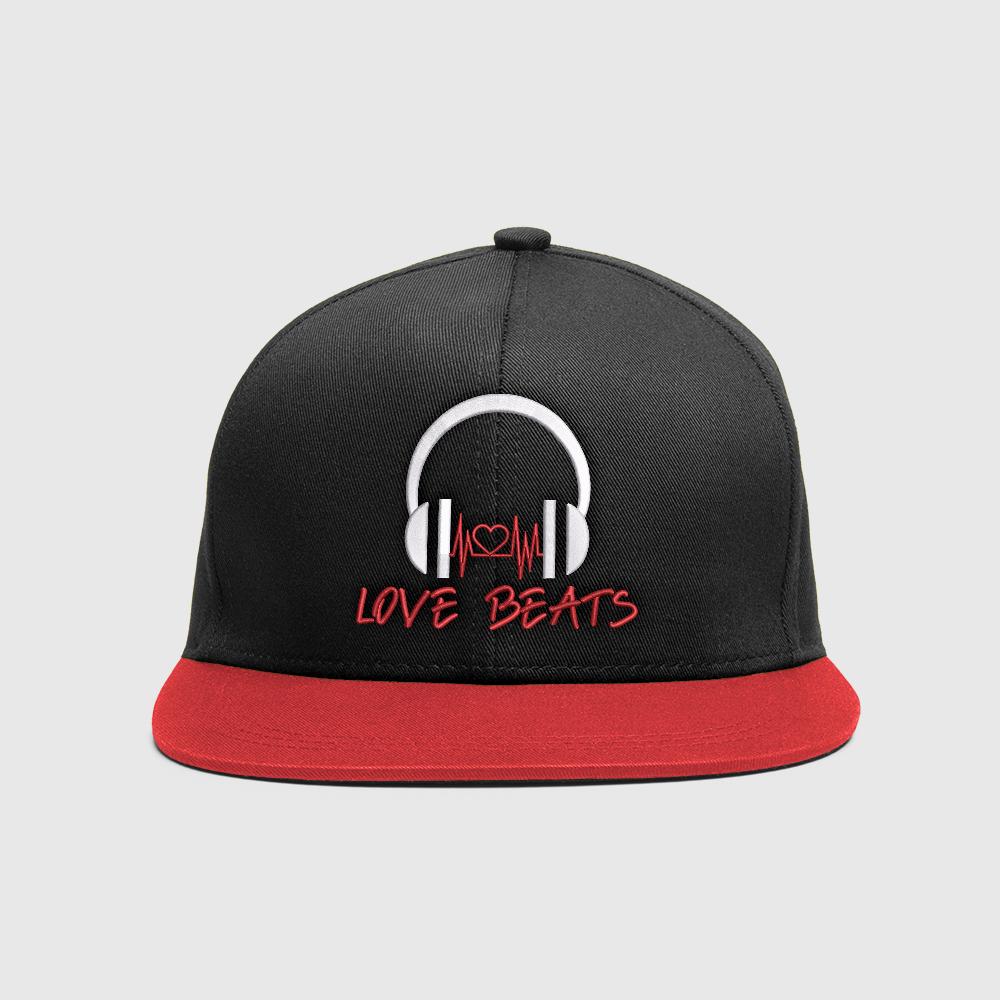 Embroidery Design: Music Love Beat Cap