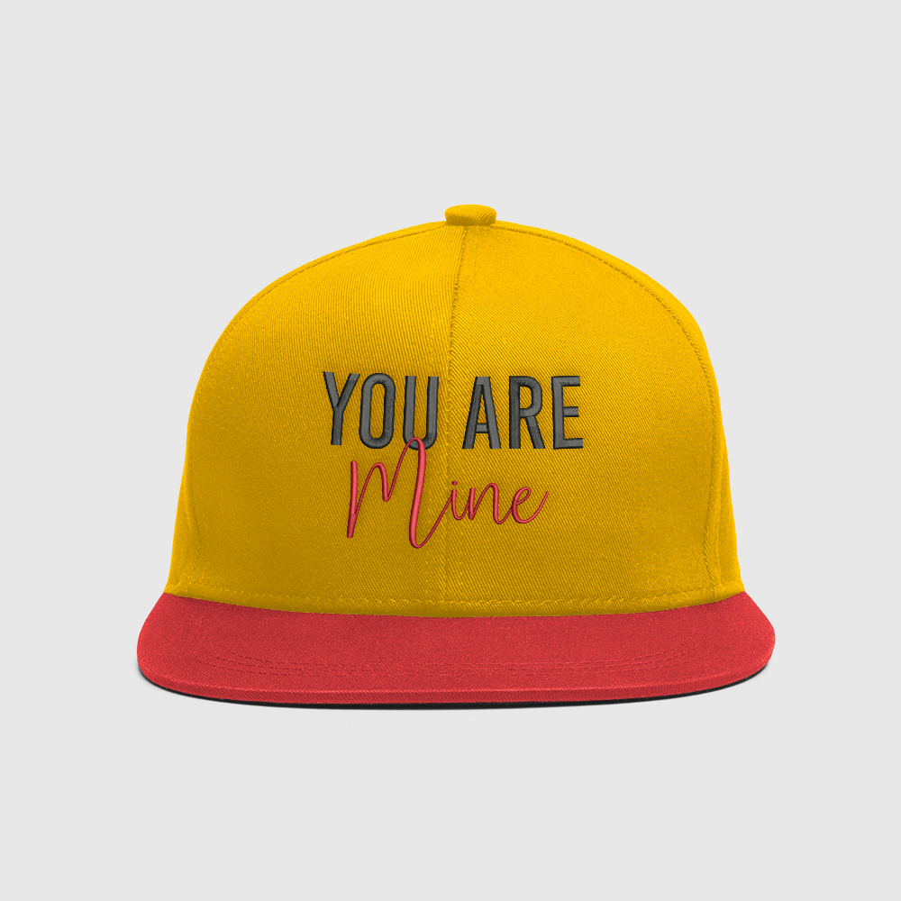 Cap Embroidery Design: You Are Mine