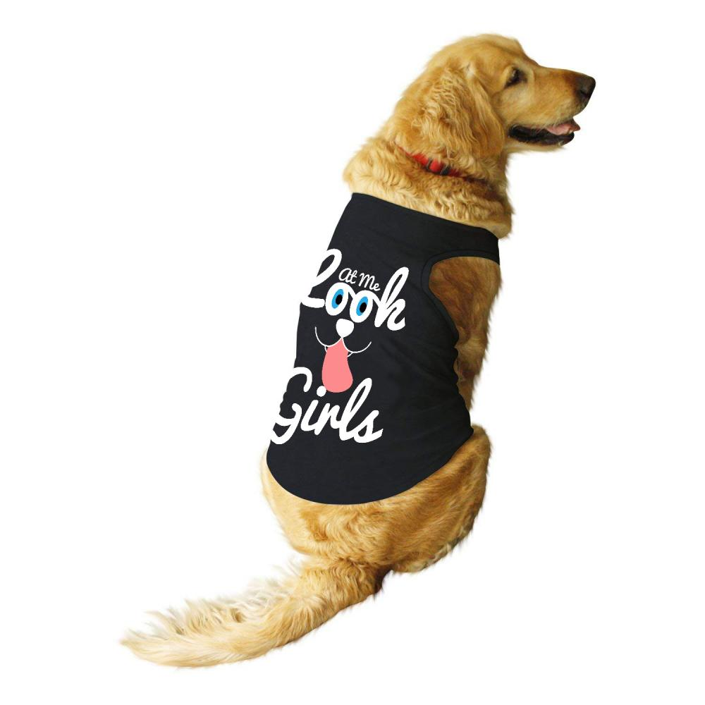 Vector Art: Look At Me Girls For Dog T-shirt