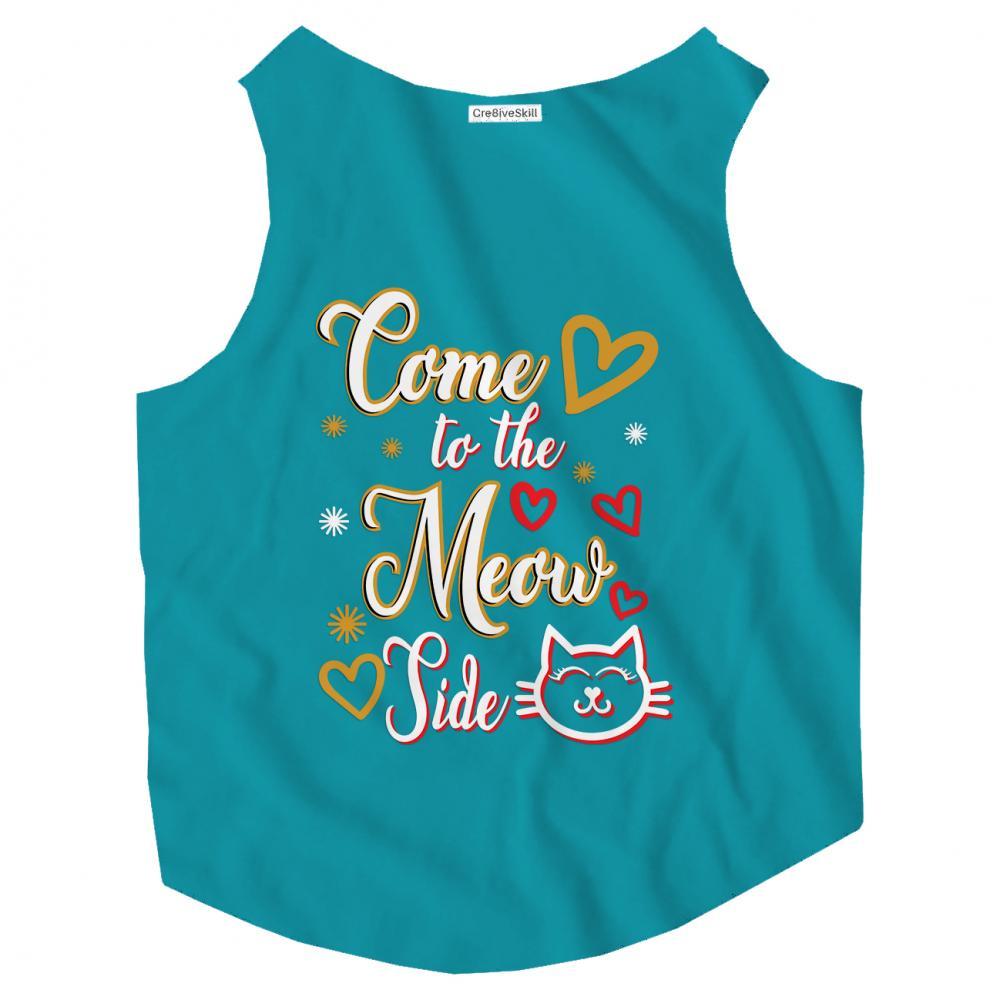 Vector Art: Cat Meow T-shirt
