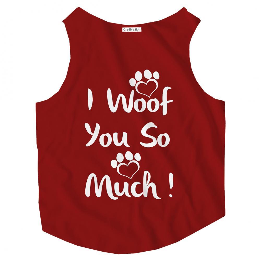 T-shirt Vector Art: I Woof You So Much