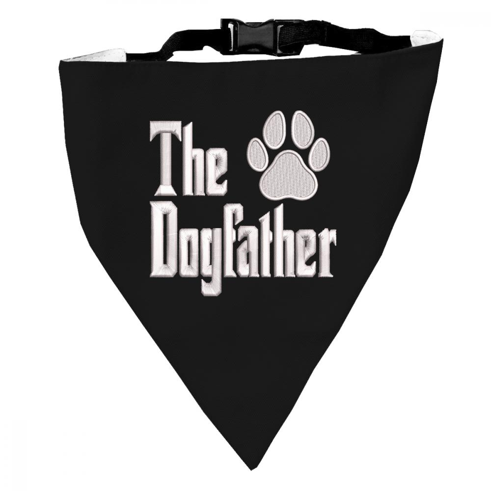 Dog Scarf Embroidery design: The Dogfather Paw Display