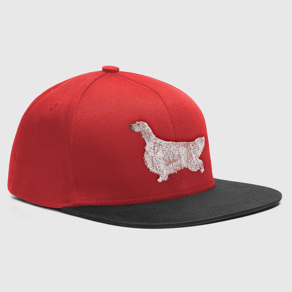 Embroidery Design: English Setter Dog Mock-up Cap