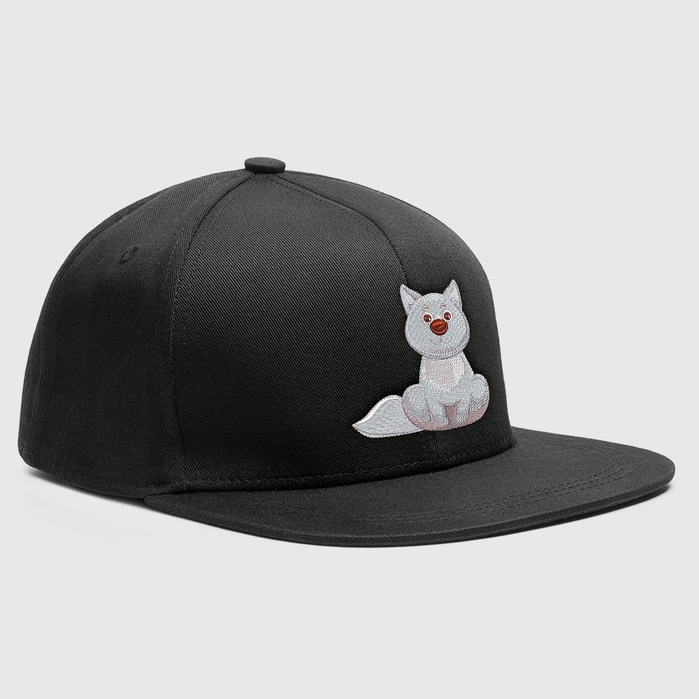 Embroidery Design Loving Cat Cap Mock-Up Design