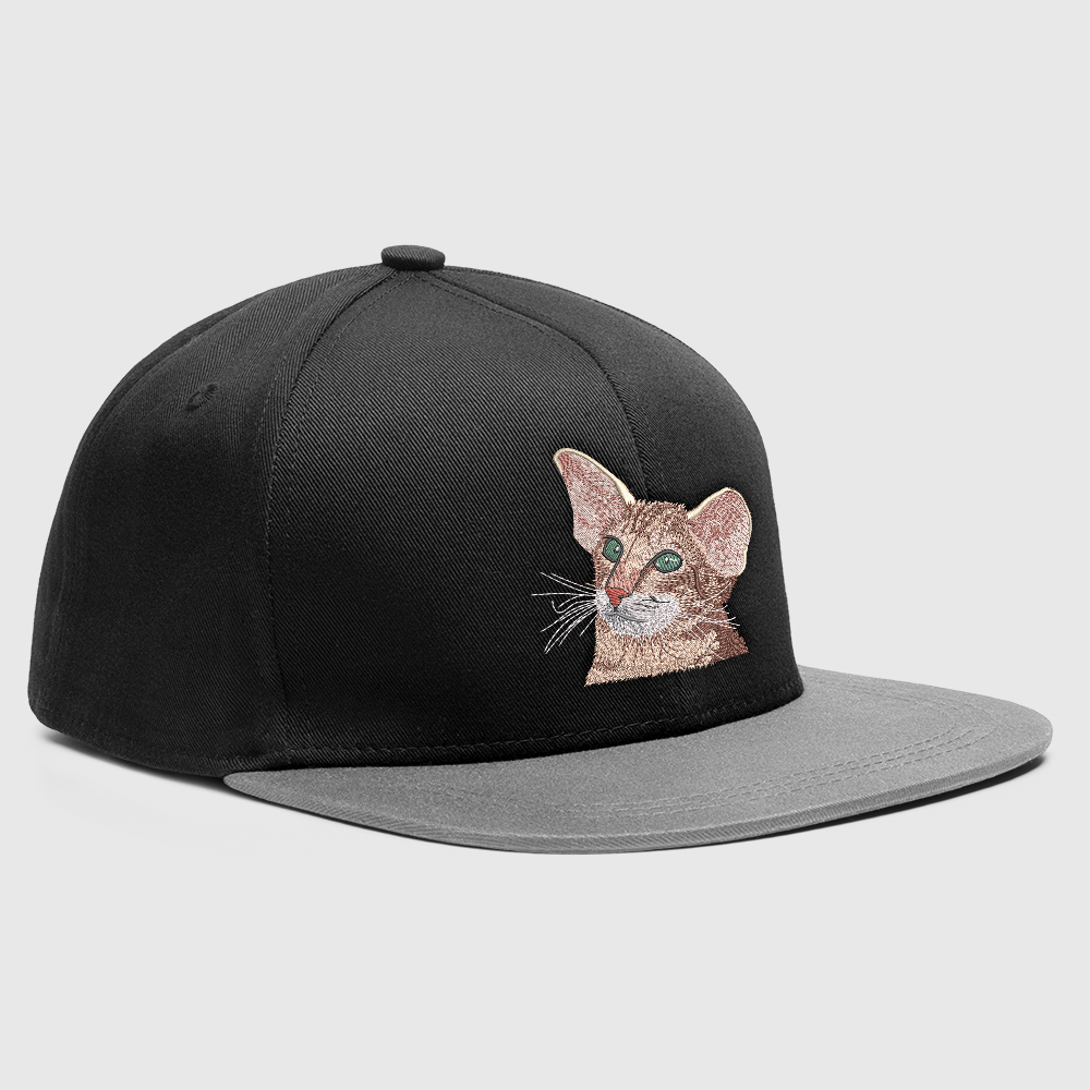 Embroidery Design Sweet Cat Cap Mock-Up Design