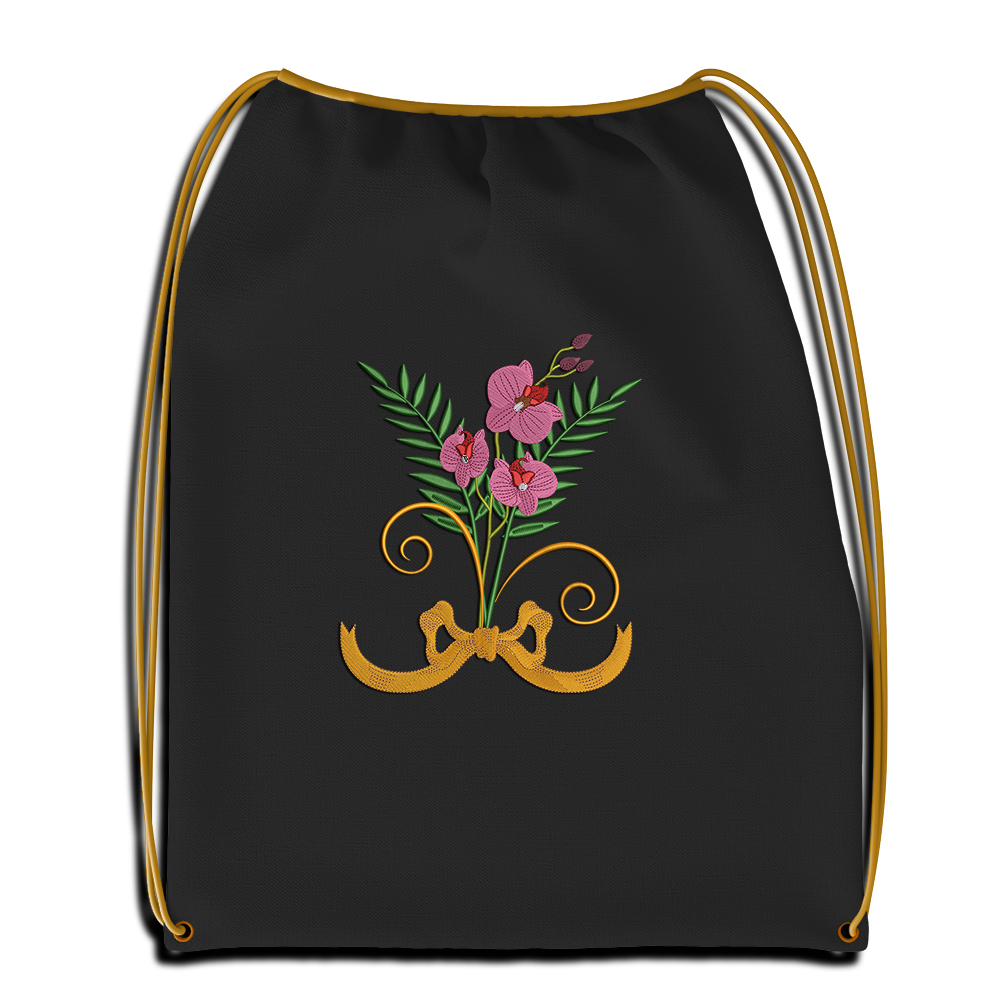 Cre8iveSkill's Embroidery Design Orchid Flower Sac Mockup