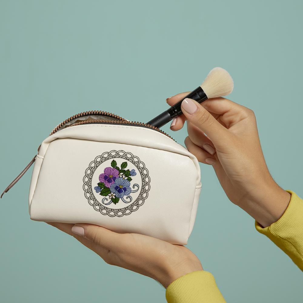 Cre8iveSkill's Embroidery Design African Daisy Bag Mockup
