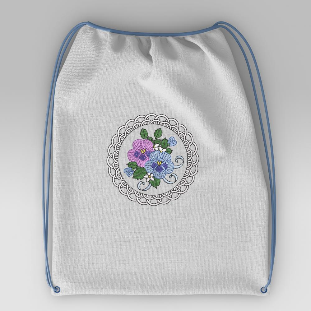 Cre8iveSkill's Embroidery Design African Daisy Sac Mockup