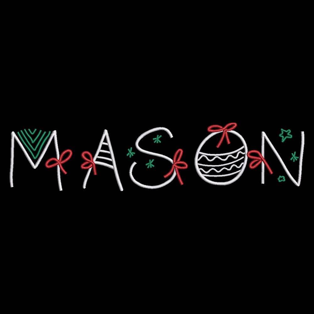 Mason Christmas Ribbon