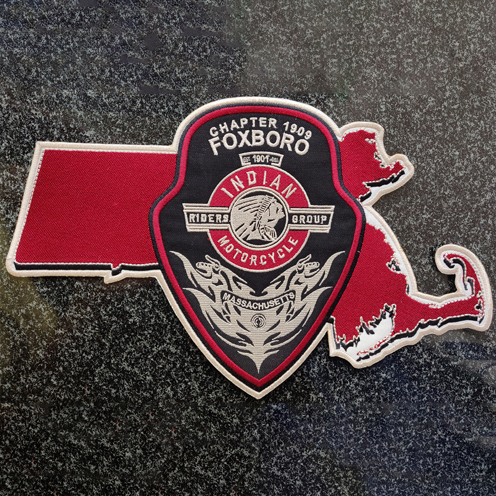 Custom embroidered patch after