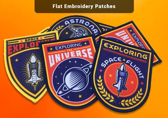 Flat embroidery Patches