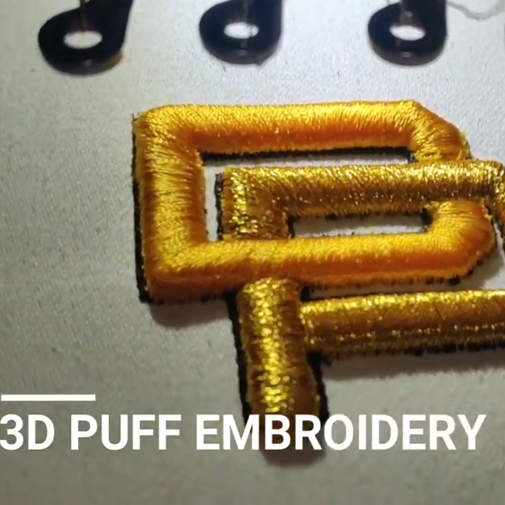 3d Puff Logo Embroidery By Cre8iveskill