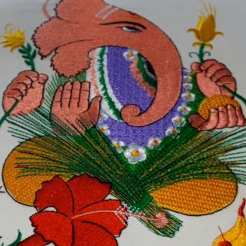 Embroidered Photo Frame of Ganesha | Home Decor | Cre8iveskill