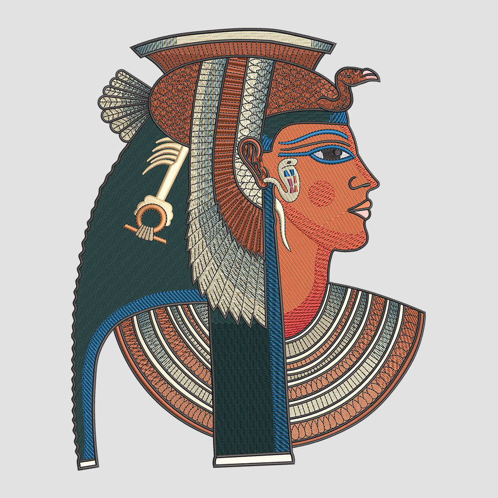 Embroidery Design: Ancient Egyptian Queen Category: Embroidery Designs