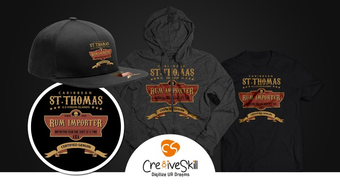 ST. Thomas Rum Importer Design Mock-up-Cre8iveSkill