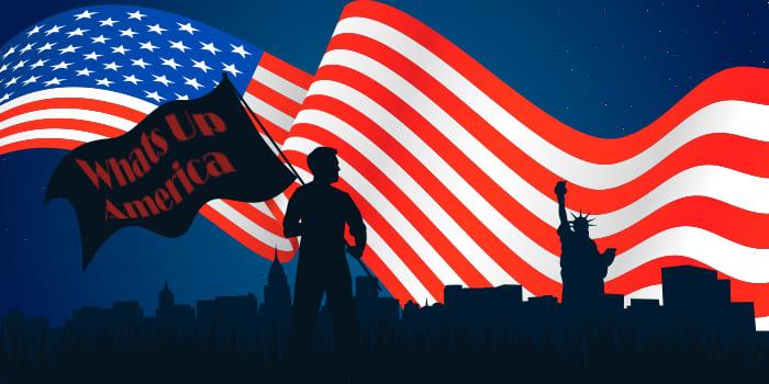 whats app america flag
